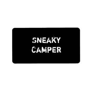 Sneaky Camper. Gamer Label