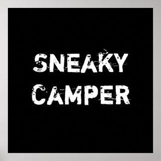 Sneaky Camper. Gamer Print