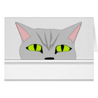 Sneaky Cat 2 Greeting Card