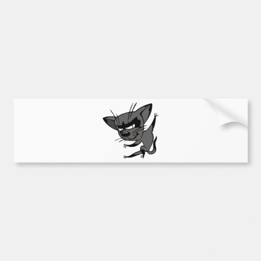 Sneaky Cat Bumper Stickers