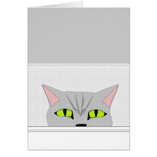 Sneaky Cat Card