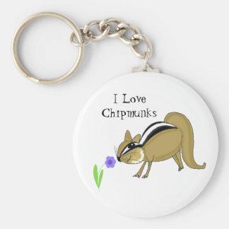 Sneaky Chipmunk Keychain