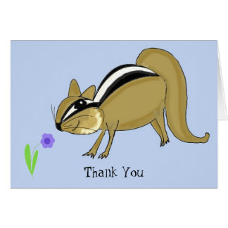 Sneaky Chipmunk Thank You Card
