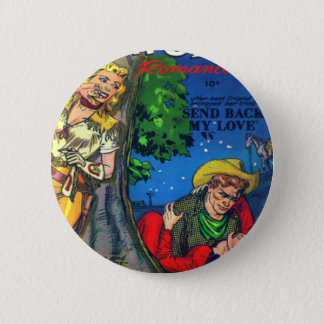 Sneaky Cowgirl Pinback Button