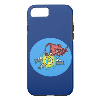 sneaky deep fish going to cheat cartoo iPhone 7 case