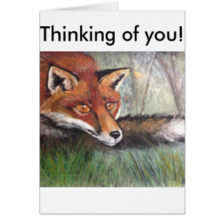 Sneaky Fox Greeting Card