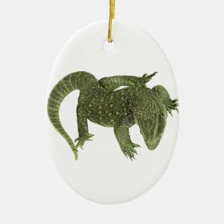 Sneaky Galapagos Iguana Ceramic Ornament