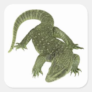 Sneaky Galapagos Iguana Square Sticker