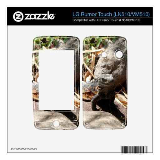 Sneaky Iguana Decal For LG Rumor Touch