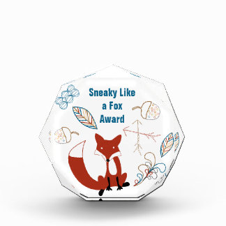 Sneaky Like a Fox Modern Fox  Woodland Pattern Award