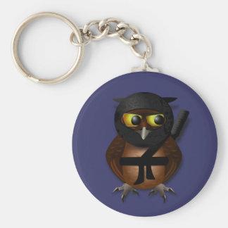 Sneaky Ninja Owl Basic Round Button Keychain