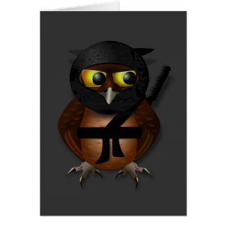 Sneaky Ninja Owl Greeting Card