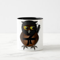 Sneaky Ninja Owl Two-Tone Coffee Mug