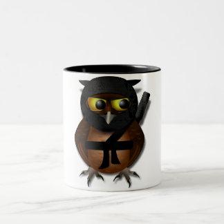 Sneaky Ninja Owl Two-Tone Coffee Mug