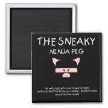 Sneaky Ninja Pig Fridge Magnet