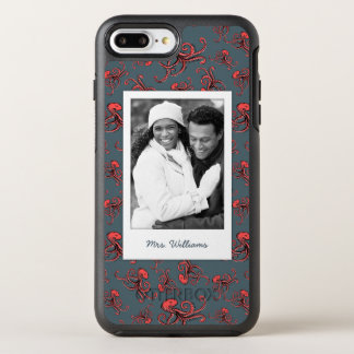 Sneaky Octopus Pattern   Your Photo & Name OtterBox Symmetry iPhone 8 Plus/7 Plus Case