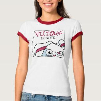"""""""Sneaky Peek"""" Women's Ringer Tee- White & Red T-Shirt"""