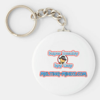 Sneaky Red Eyes Basic Round Button Keychain