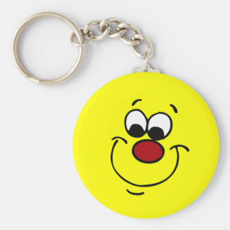 Sneaky Smiley Face Grumpey Keychain