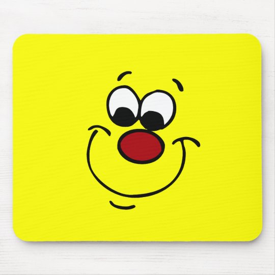 Sneaky Smiley Face Grumpey Mouse Pad