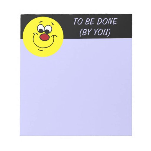 Sneaky Smiley Face Grumpey Notepad