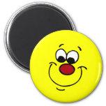 Sneaky Smiley Face Grumpey Refrigerator Magnet