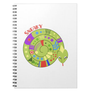 Sneaky Snake Spiral Note Books