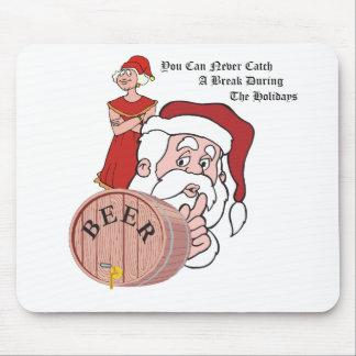 Sneaky Sneaky Santa Mouse Pad