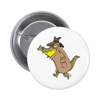 sneaky thug croc crocodile cartoon character button