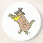 sneaky thug croc crocodile cartoon character drink coasters