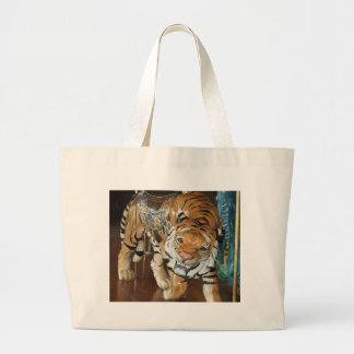 Sneaky Tiger Large Tote Bag