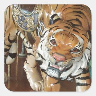 Sneaky Tiger Square Sticker