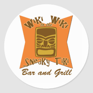 Sneaky Tiki Bar and Grill Stickers