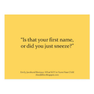 sneeze postcard