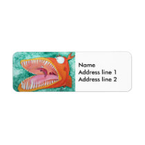 """Sneezer"" Fish With Attitude Label"