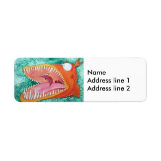 """Sneezer"" Fish With Attitude Label"