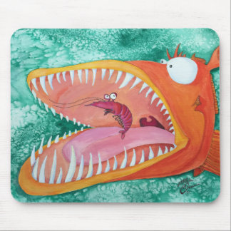 """Sneezer"" Fish With Attitude Mouse Pad"