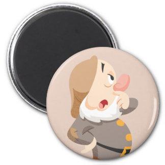 Sneezy 4 2 inch round magnet