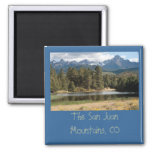 Sneffels and a Pond in the Woods 2 Inch Square Magnet