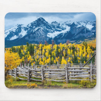 Sneffels Mountain Corral in the Fall - Colorado Mouse Pad