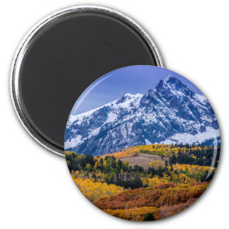 Sneffels Range Fall Sunrise - Colorado 2 Inch Round Magnet