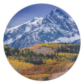 Sneffels Range Fall Sunrise - Colorado Dinner Plate