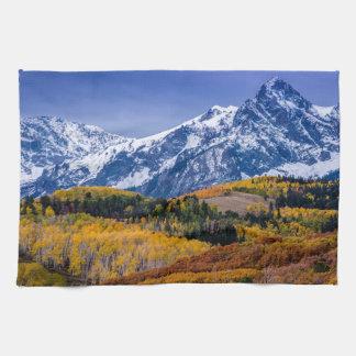 Sneffels Range Fall Sunrise - Colorado Hand Towels