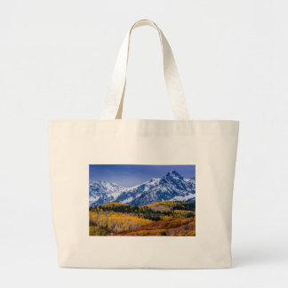Sneffels Range Fall Sunrise - Colorado Large Tote Bag