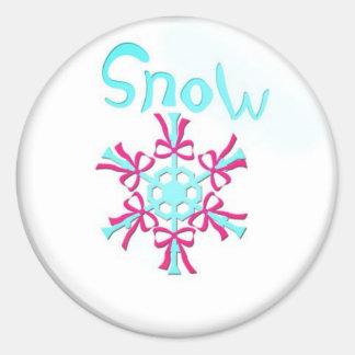 sneg del pogoda pegatina redonda