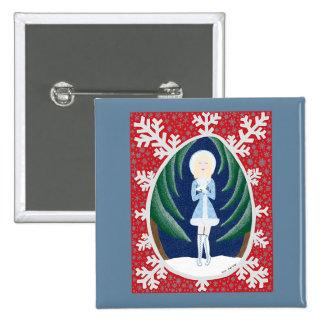 Snegurochka (Fairy Tale Fashion #3) Pinback Button