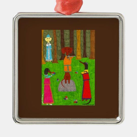 Snegurochka Ornament - Premium Square