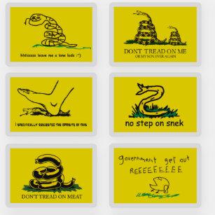 Gadsden Flag Parody Stickers 100 Satisfaction Guaranteed Zazzle
