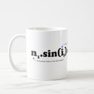 Snell–Descartes law or law of refraction Coffee Mugs