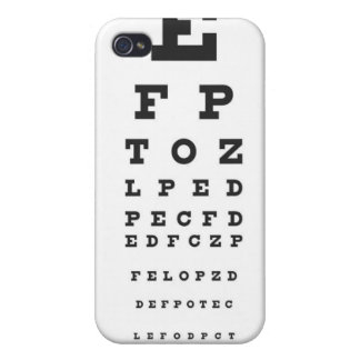 Snellen Chart Cases For iPhone 4